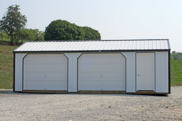 14' X 32' A-Frame Garage with 4' x 7' Entry Door