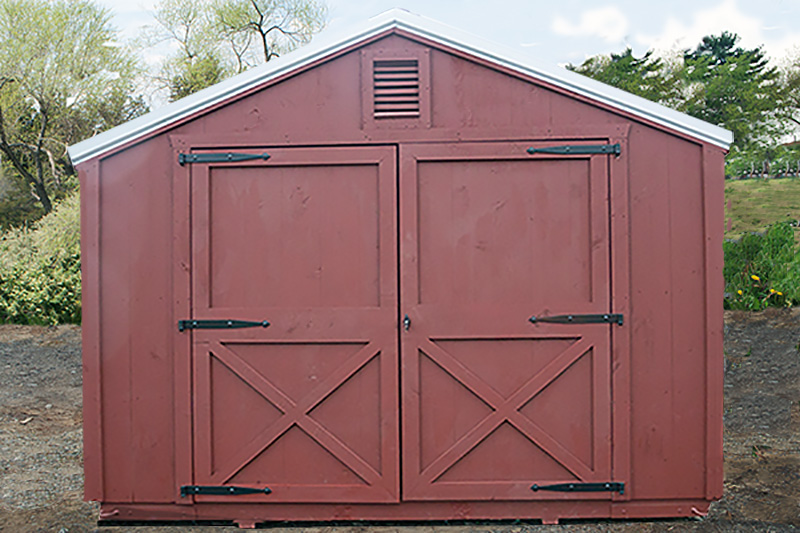 12x30 Wood Storage-Gable End