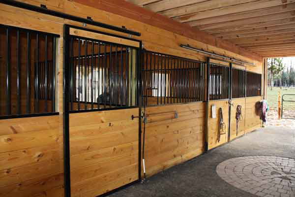 Stall Fronts in a 36x36 Modular Horse Barn
